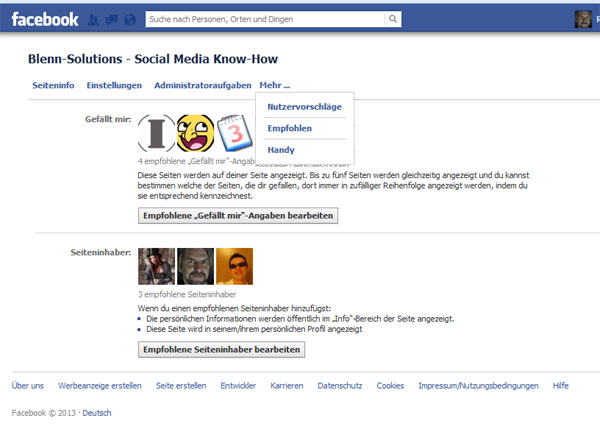 Wenn Sie eine Facebook-Seite erstellen, ist diese anonym